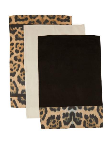 premier-housewares-leopard-tea-towels-ndash-set-of-3