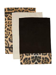 premier-housewares-leopard-tea-towels-ndash-set-of-3