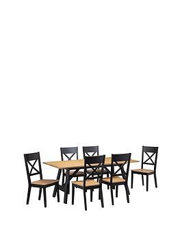 julian-bowen-hockley-190-cm-solid-woodnbspdining-table-6-chairs