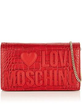 love-moschino-logo-croc-cross-body-bag-red