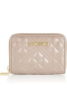 love-moschino-quilted-small-zip-around-purse-pink