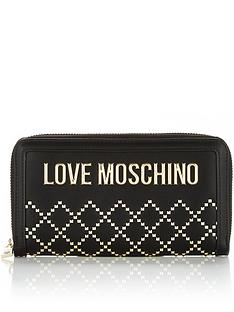 love-moschino-stud-and-logo-continental-purse-black