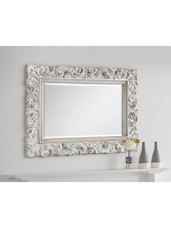 Julian Bowen Baroque Distressed Wall Mirror Very Co Uk