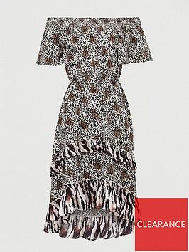 v-by-very-bardotnbspmidi-dress-animal-print