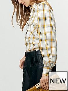 gestuz-chloe-check-shirt-yellowwhite