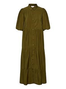 gestuz-kirita-button-through-midi-shirt-dress-olive