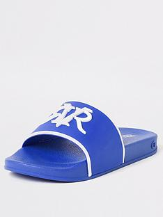 river-island-boys-rvr-embossed-sliders-blue
