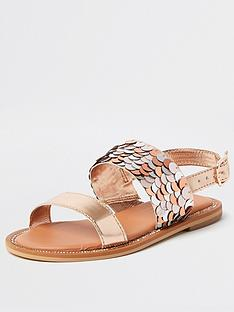 river-island-girls-sequin-gem-sandal--rose-gold
