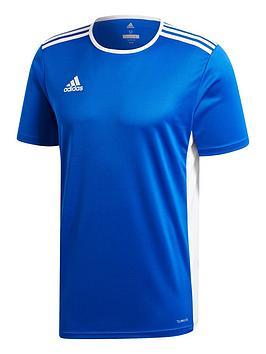 adidas-entrada-18-training-t-shirt-blue