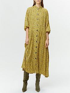 gestuz-thallo-floral-print-button-through-midi-dress-yellow