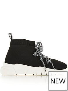 love-moschino-laced-sock-trainers-black