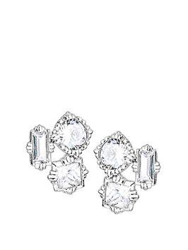 the-love-silver-collection-rhodium-plated-sterling-silver-mixed-cut-white-cubic-zirconia-stud-earrings