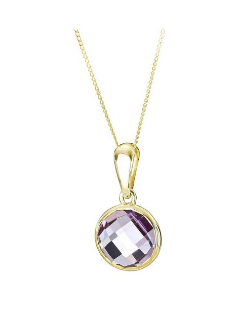 love-gem-9ct-yellow-gold-round-briolette-cut-amethyst-pendant-with-18inch-curb-chain