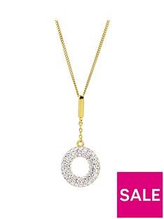 evoke-evoke-gold-plated-sterling-silver-swarovski-crystal-halo-drop-pendant-necklace