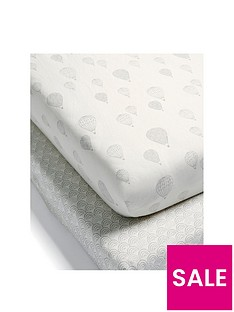 mamas-papas-mamas-papas-hot-air-balloon-2-pack-fitted-sheets