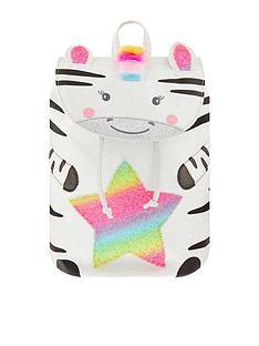 accessorize-girls-zoe-zebra-rainbow-backpack-white