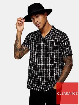 topman-check-revere-shirt-black