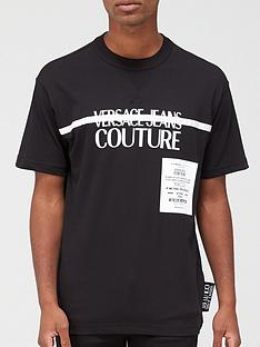 versace-jeans-couture-chest-stripe-logo-t-shirt-black