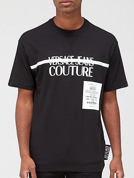 versace-jeans-couture-chest-stripe-logo-t-shirt-black
