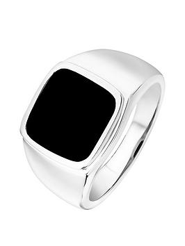 the-love-silver-collection-rhodium-plated-sterling-silver-12mm-cushion-onyx-mens-ring