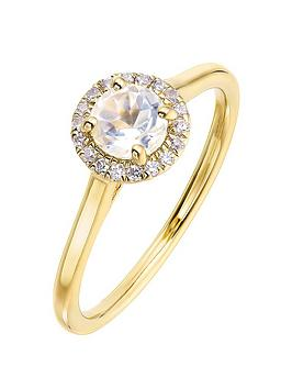 love-gem-9ct-yellow-gold-5mm-round-white-topaz-and-008ct-diamond-birthstone-halo-ring