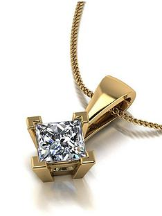 moissanite-9ct-gold-060ct-square-brilliant-pendant