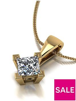 moissanite-9ct-gold-060ct-square-brilliant-pendant