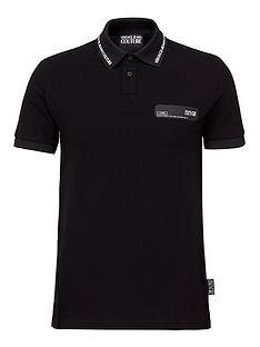 versace-jeans-couture-menrsquosnbsplogo-patch-polo-shirt-black