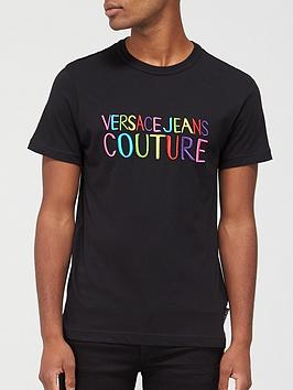 versace-jeans-couture-rainbow-logo-slim-fit-t-shirt-black