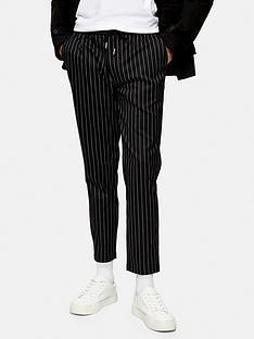 topman-stripe-joggers-black