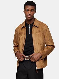 topman-suedette-jacket-tan