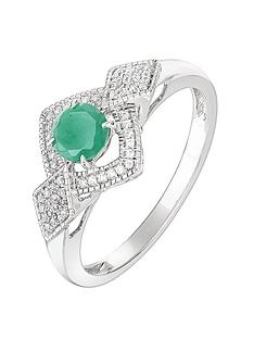 love-gem-9ct-white-gold-round-emerald-and-012ct-diamond-bridal-ring