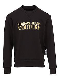 versace-jeans-couture-menrsquosnbsplogo-print-sweatshirt-ndash-black