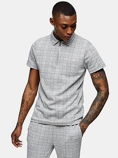 topman-check-texture-polo-shirt-grey