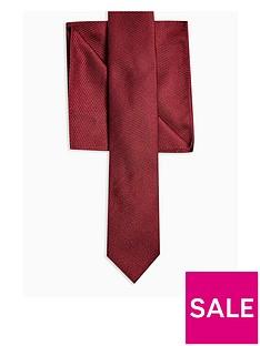 topman-tie-amp-pocket-squarenbspset-burgundynbsp