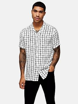topman-check-revere-shirt-white