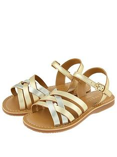 accessorize-girls-metallic-leather-sandal-gold