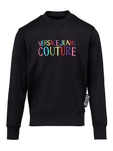 versace-jeans-couture-menrsquosnbsprainbow-logo-sweatshirt-ndash-black