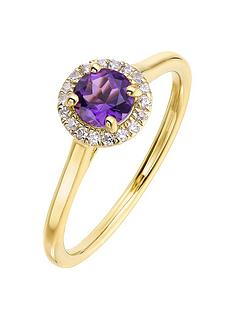 love-gem-9ct-yellow-gold-5mm-round-amethyst-and-008ct-diamond-birthstone-halo-ring