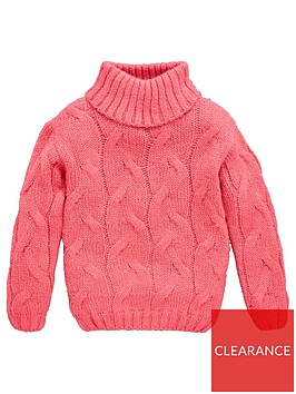 v-by-very-girls-cable-roll-neck-jumper-pink