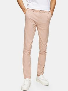 topman-stretch-skinny-chinos-pink