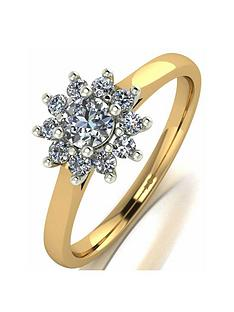 moissanite-9ct-gold-050ct-cluster-ring