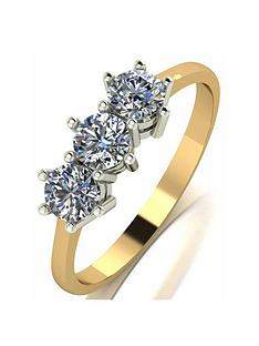 moissanite-9ct-gold-075ct-trilogy-ring