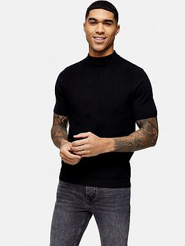topman-knitted-turtle-neck-t-shirt-black