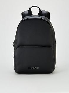 calvin-klein-central-round-faux-leather-backpack-black