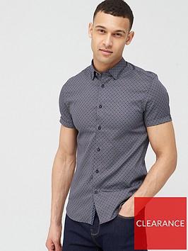 ted-baker-namaste-geo-print-short-sleeve-shirt-navy