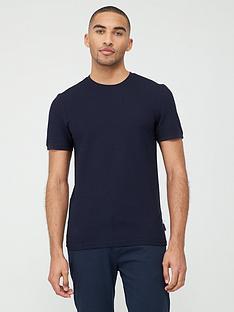 ted-baker-caramel-textured-short-sleeve-t-shirt-navy