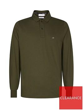 calvin-klein-liquid-touch-long-sleeve-polo-shirt-khaki