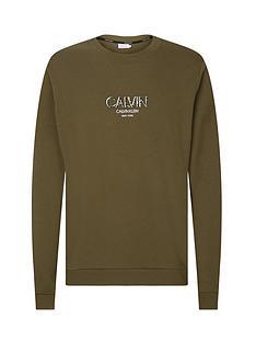 calvin-klein-calvin-small-logo-sweatshirt-khaki