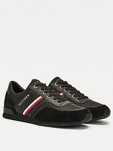 tommy-hilfiger-iconic-material-mix-runner-trainers-black